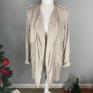 Lush womens light weight jacket/blazer-khaki-SMALL